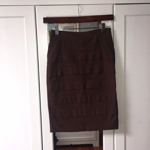 Dresses & Skirts - Chocolate brown body con pencil skirt